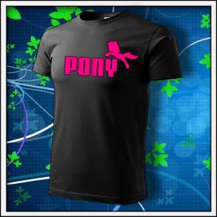 Pony - unisex s ružovou neónovou potlačou