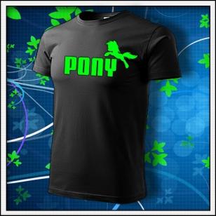 Pony - unisex so zelenou neónovou potlačou