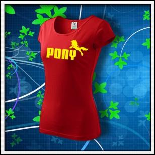 Pony - dámske červené