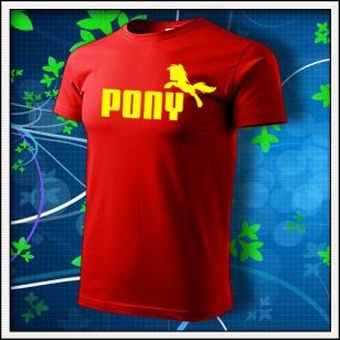 Pony - červené