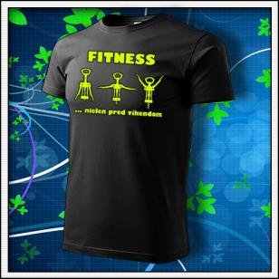 Fitness - unisex so žltou neónovou potlačou