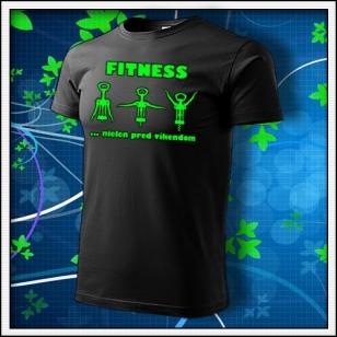 Fitness - unisex so zelenou neónovou potlačou