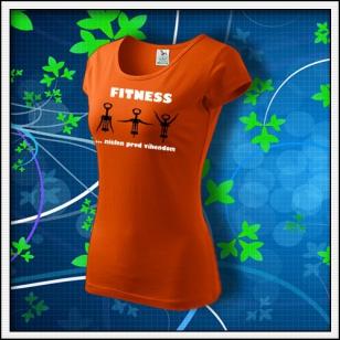 Fitness - dámske oranžové