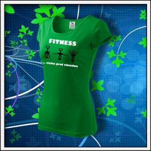 Fitness - dámske trávovozelené