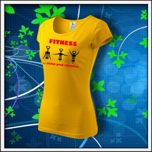 Fitness - dámske žlté
