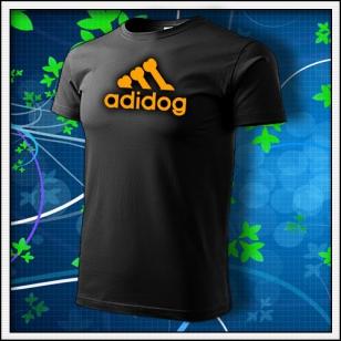 Adidog - unisex s oranžovou neónovou potlačou