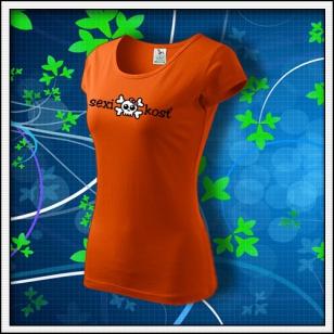 Sexi kosť - dámske oranžové
