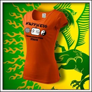 Amulet Šťastia - dámske oranžové