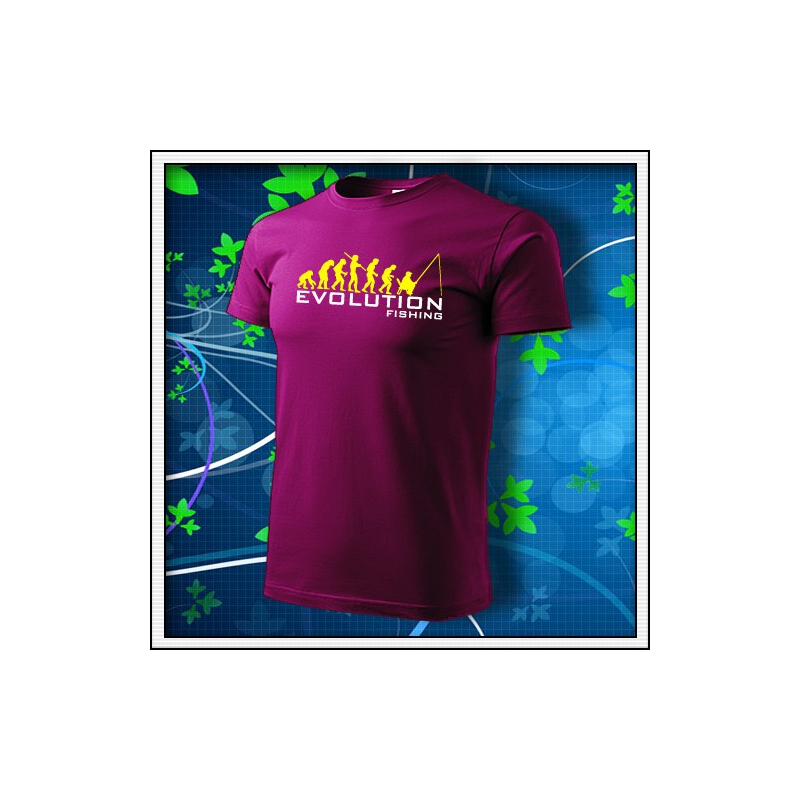 Evolution Fishing - fuchsia red