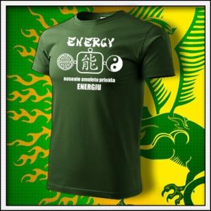 Amulet Energie - fľaškovozelené