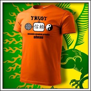 Amulet Dôvery - oranžové