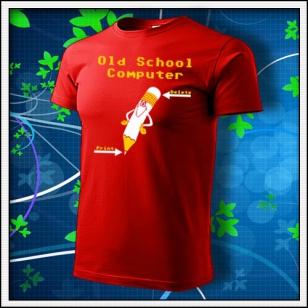 Old School Computer - červené