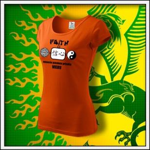Amulet Viery - dámske oranžové