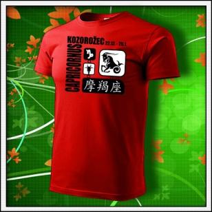 Znamenie Kozorožec - červené