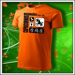 Znamenie Kozorožec - oranžové