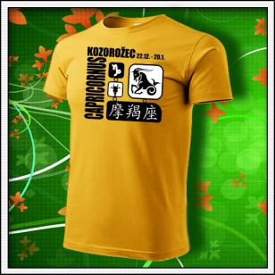 Znamenie Kozorožec - žlté