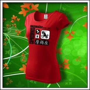 Znamenie Kozorožec - dámske červené