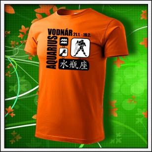 Znamenie Vodnár - oranžové