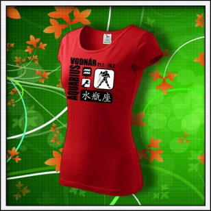 Znamenie Vodnár - dámske červené