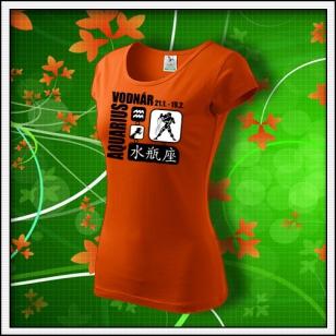 Znamenie Vodnár - dámske oranžové