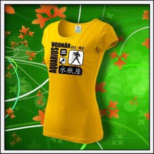 Znamenie Vodnár - dámske žlté