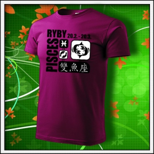 Znamenie Ryby - fuchsia red