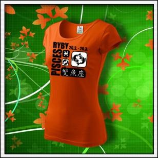 Znamenie Ryby - dámske oranžové