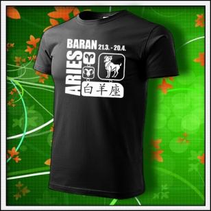 Znamenie Baran - čierne