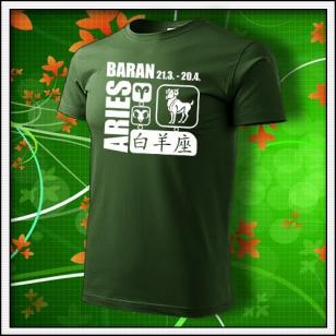 Znamenie Baran - fľaškovozelené