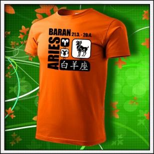 Znamenie Baran - oranžové