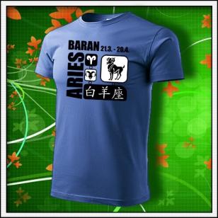 Znamenie Baran - svetlomodré