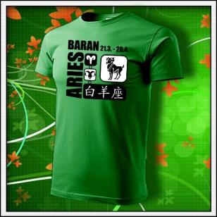 Znamenie Baran - trávovozelené