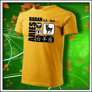 Znamenie Baran - žlté