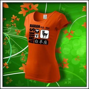 Znamenie Baran - dámske oranžové