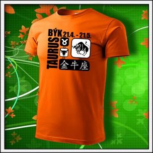 Znamenie Býk - oranžové
