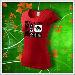 Znamenie Býk - dámske červené