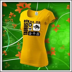 Znamenie Býk - dámske žlté