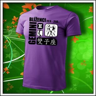 Znamenie Blíženci - fialové