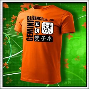Znamenie Blíženci - oranžové