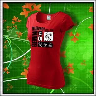 Znamenie Blíženci - dámske červené