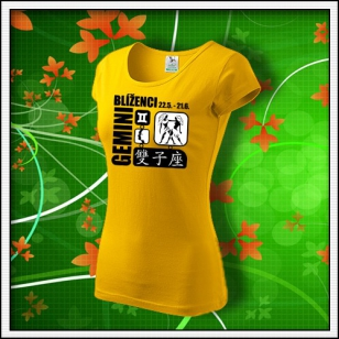 Znamenie Blíženci - dámske žlté
