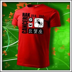 Znamenie Rak - červené
