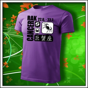 Znamenie Rak - fialové