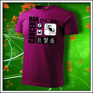 Znamenie Rak - fuchsia red