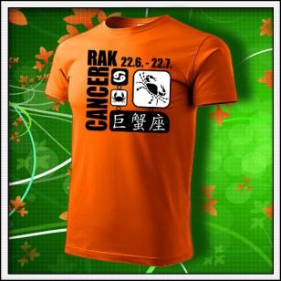 Znamenie Rak - oranžové