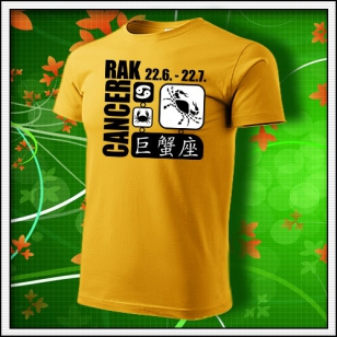 Znamenie Rak - žlté