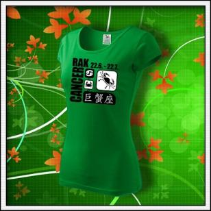 Znamenie Rak - dámske trávovozelené