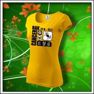 Znamenie Rak - dámske žlté