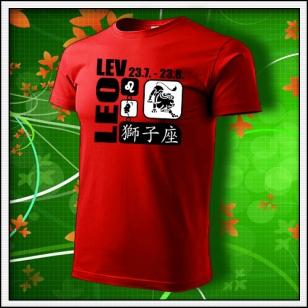 Znamenie Lev - červené
