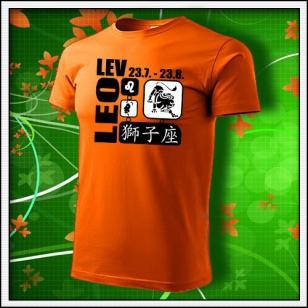 Znamenie Lev - oranžové